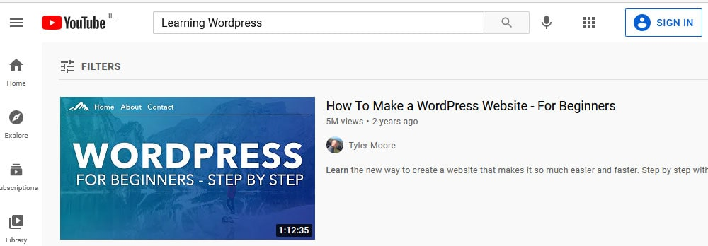 יוטיוב - לימוד אונליין